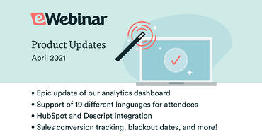 eWebinar April feature updates list