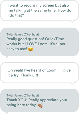 Chat stream