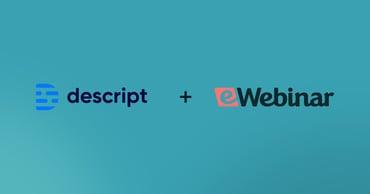 Descript logo together with eWebinar logo
