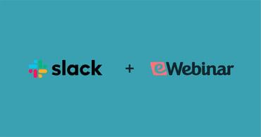 Slack logo + eWebinar logo