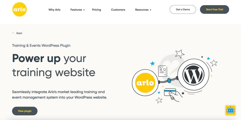 Arlo WordPress plugin webpage