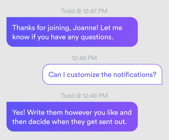 Chat conversation in an automated webinar
