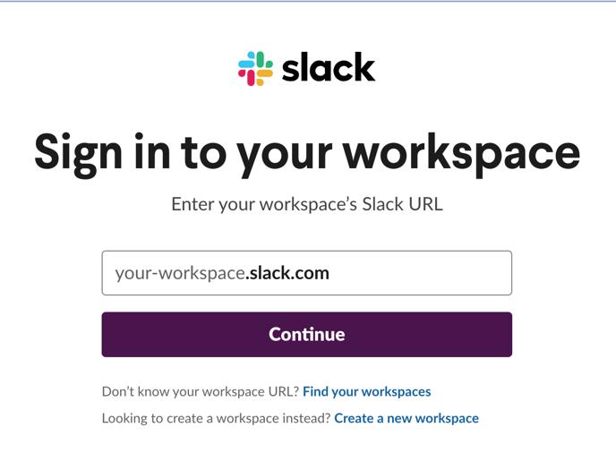 eWebinar prompt to log in to Slack