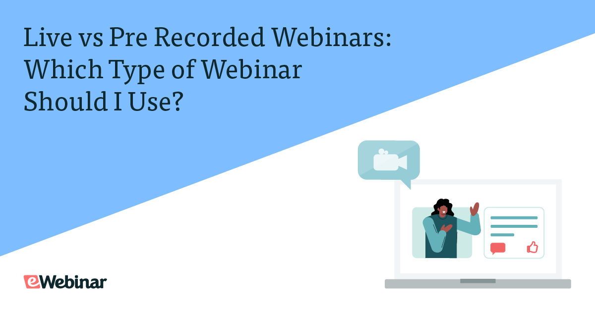 A graphic of a screen with a pre-recorded webinar