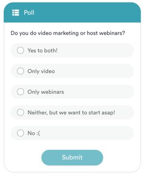 An example of a poll during eWebinar's demo