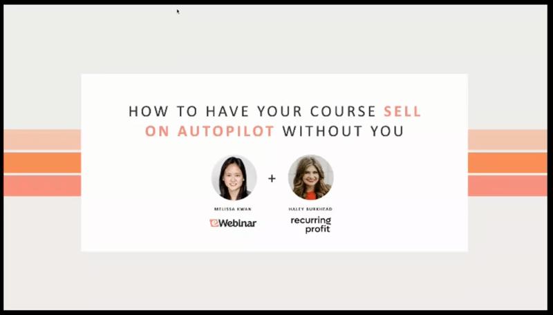 A screenshot of the title slide from an eWebinar presentation