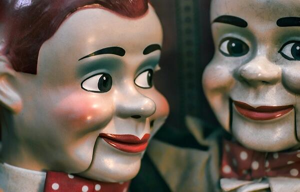Two ventriloquist dummies