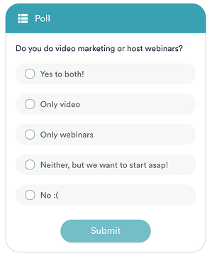 An example of a pre-programmed poll using eWebinar