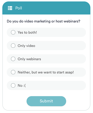 An example of an automated poll using eWebinar