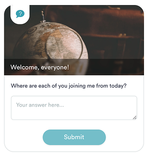 An example of a question box from eWebinar's demo