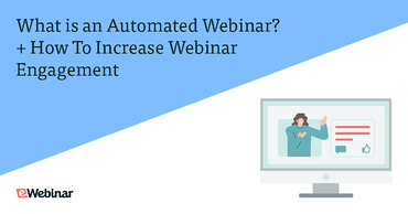 A graphic showcasing on automated webinar