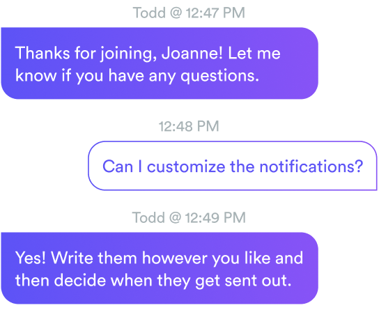 eWebinar chat conversation