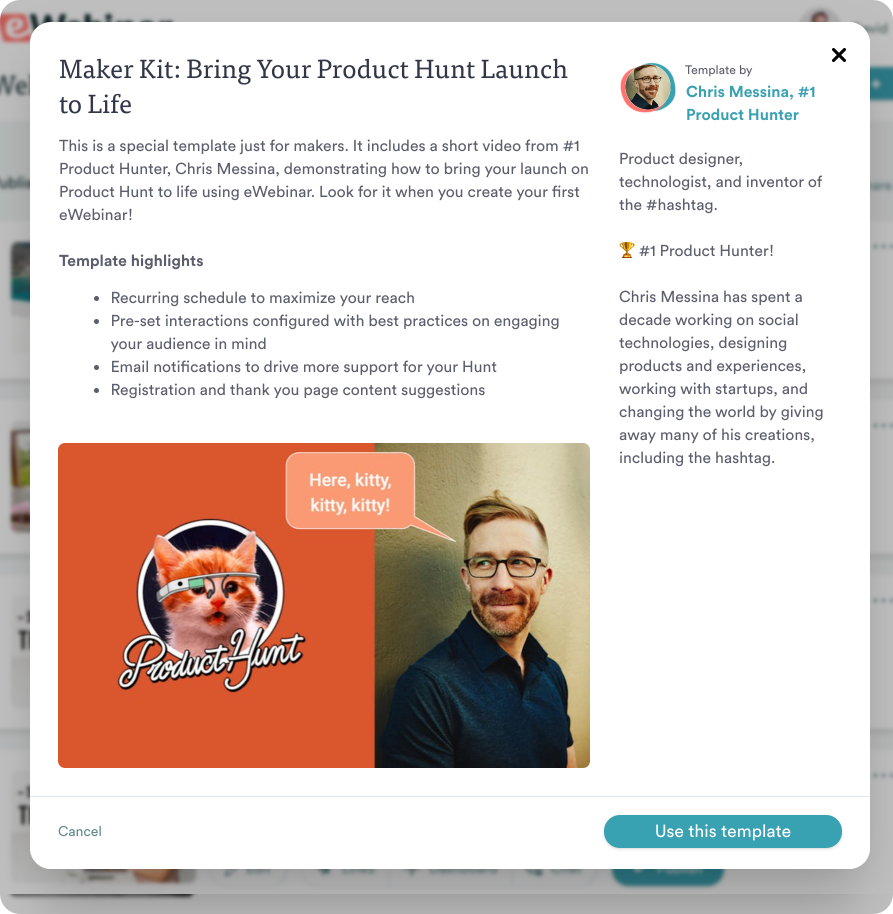 Product Hunt template