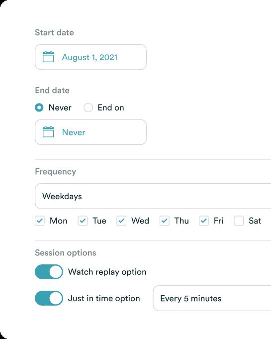 eWebinar Schedule
