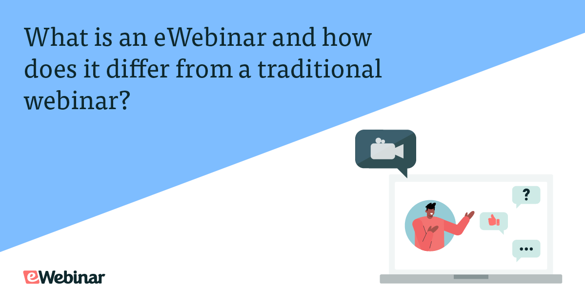 What is an eWebinar and how does it differ from a traditional webinar?